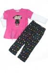 Komplet dziewczęcy bluzeczka i legginsy